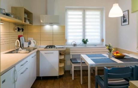 Balatoni családbarát apartmanok Keszthely - Toldi68 Apartmanház B apartman étkező-konyha.