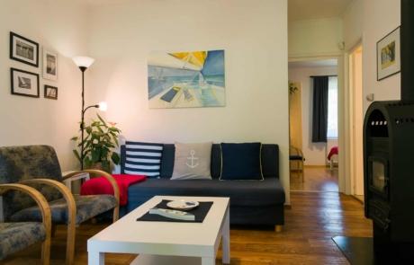 Balatoni családbarát apartmanok Keszthely - Toldi68 Apartmanház B apartman nappali.