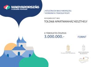 Kisfaludy Pályázat Támogatás - Toldi68 Apartmanház Keszthely